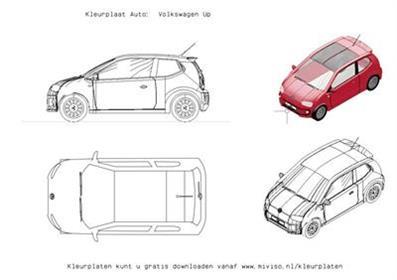 Kleurplaat Auto Volkswagen Up