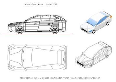 Kleurplaat Auto Volvo V40